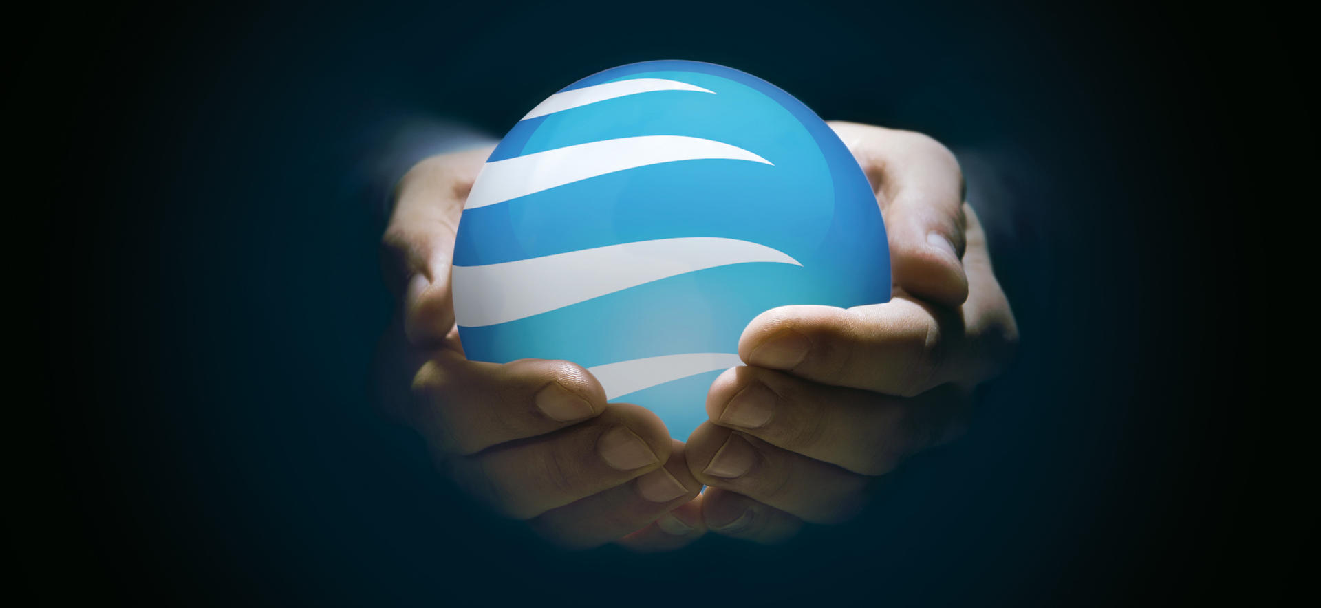 Skagerak globe in a hand.