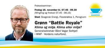 Banner-invitasjon til Energifrokost med Solhjell