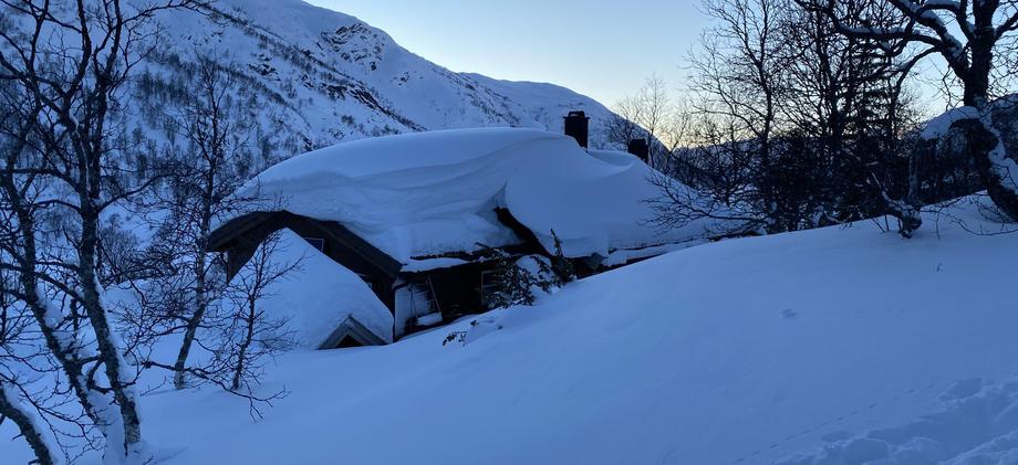 Snø hytte